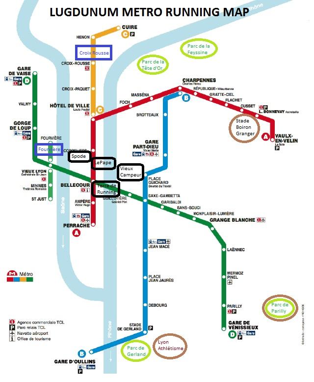 Lugdunum metro running map version haute qualité