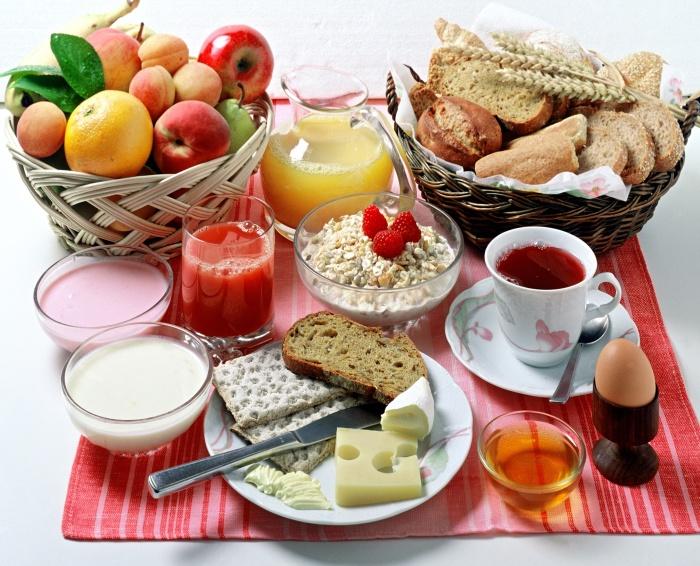 Frühstückstisch/continental breakfast