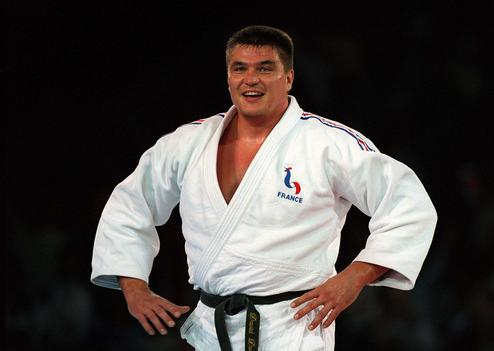 Olympic Gold medalist David Douillet of France during the final of the men's over 100kg judo final September 22, 2000. Douillet beat Shinichi Shinohara of Japan who took silver.