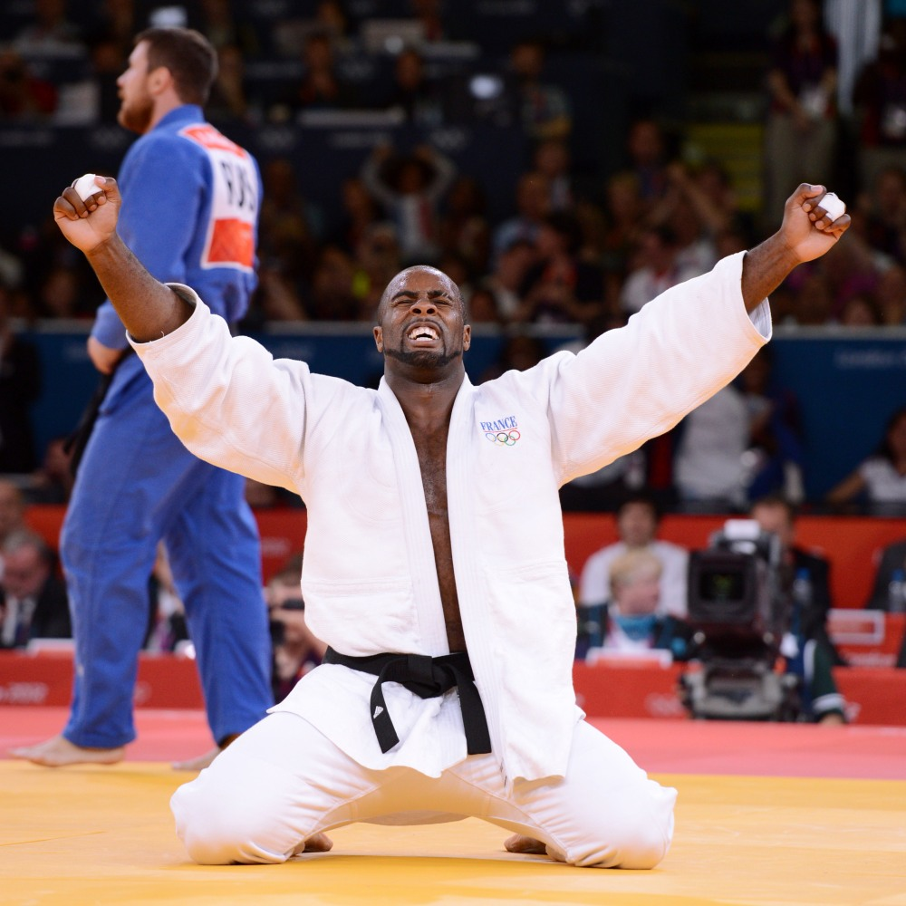LONDON OLYMPIC GAMES 2012 - EXCEL , LONDON (ENG) - 03/08/2012 - PHOTO : POOL / KMSP / DPPI JUDO - MEN - +100KG - TEDDY RINER / WINNER AND GOLD MEDAL