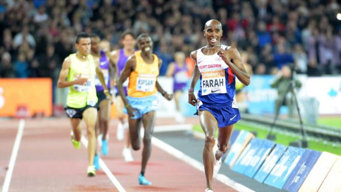 Mo Farah a survolé les débats sur 3 000 mètres./Photo prise le 25 juillet 2015/REUTERS/Kirby Lee-USA TODAY Sports